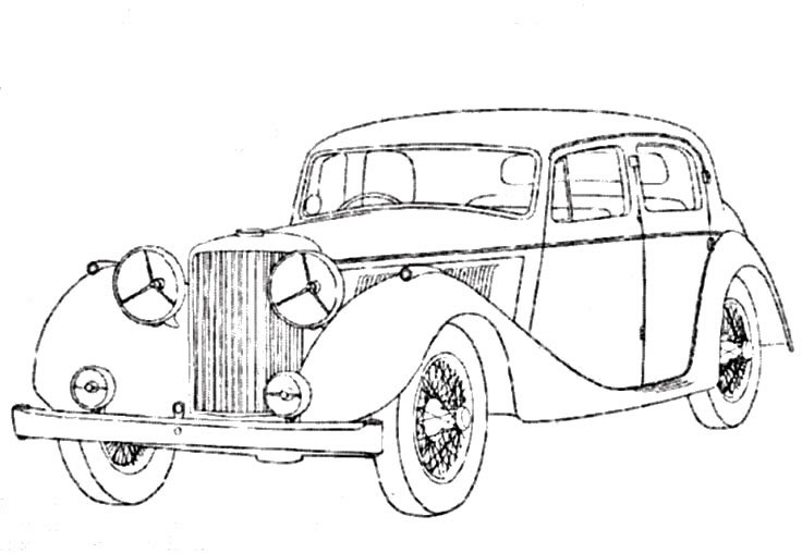 vintage_cars_3 Adult coloring pages