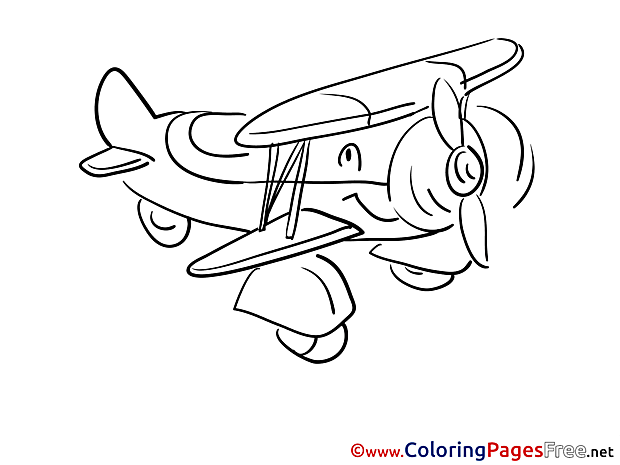 Travel download Colouring Sheet free Plane