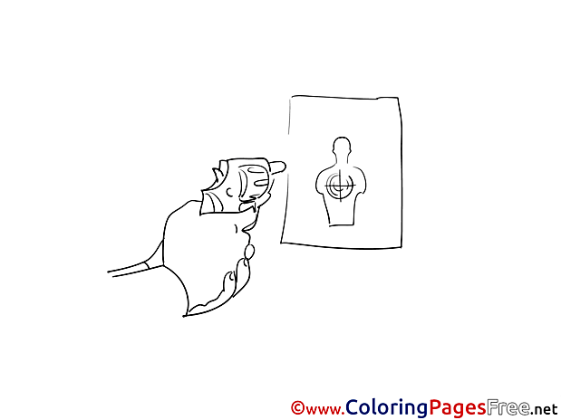 Target for Kids printable Colouring Page