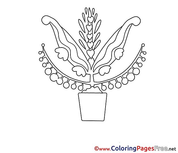 Pot Kids free Coloring Page