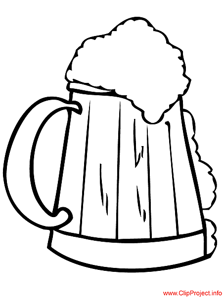 Beer page to coloring for free