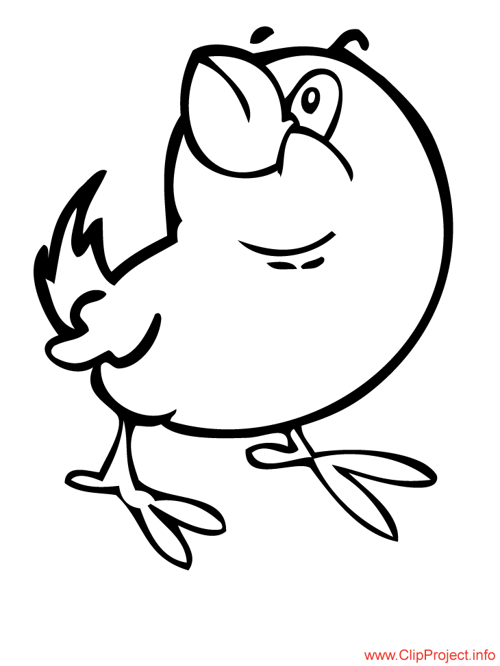 Chicken colouring page for free download