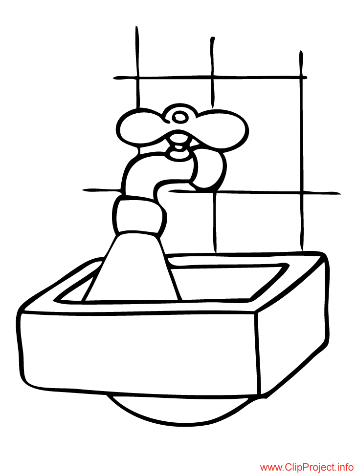 Washbasin picture to color free
