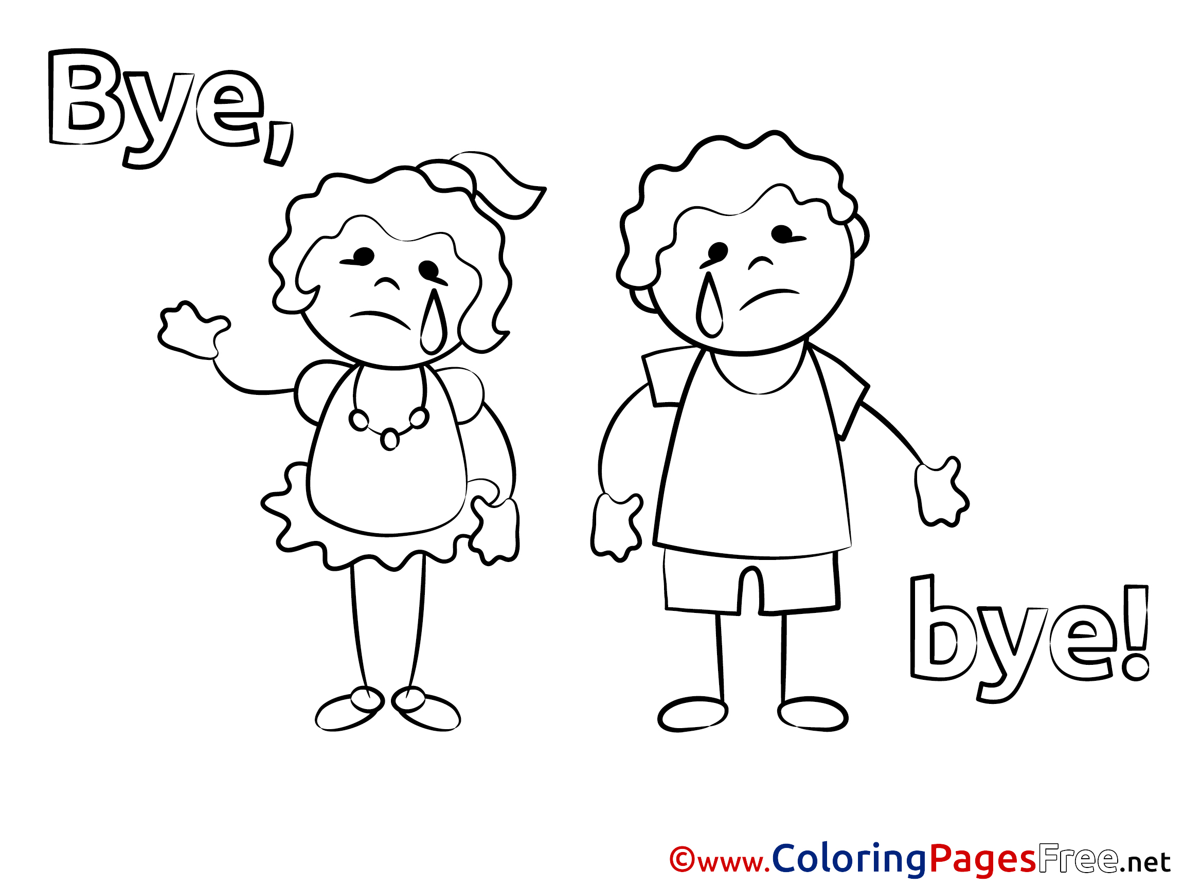 Thanks Goodbye Coloring Pages Printable Coloring Pages