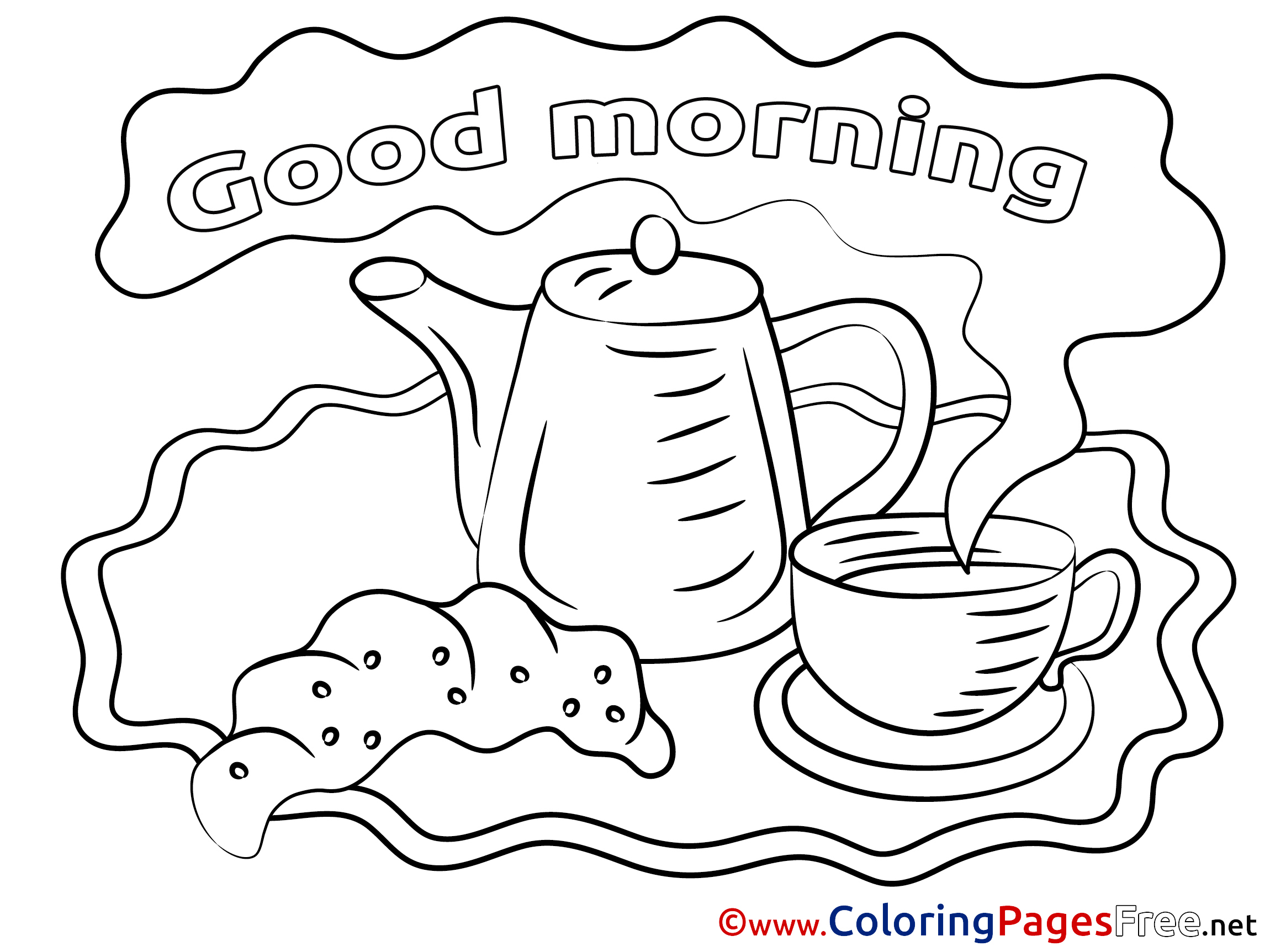 Good Morning Coloring Sheet