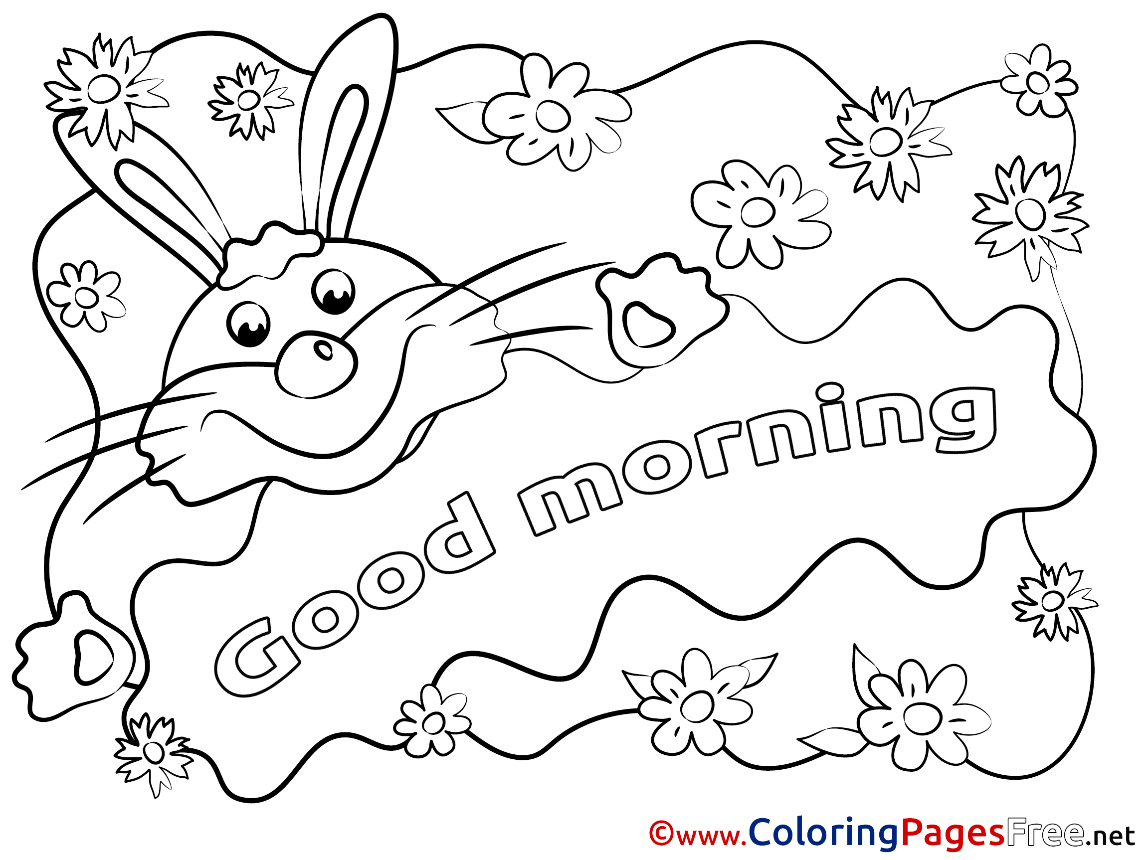 Free Good Morning Coloring Pages Clipartsco Sketch