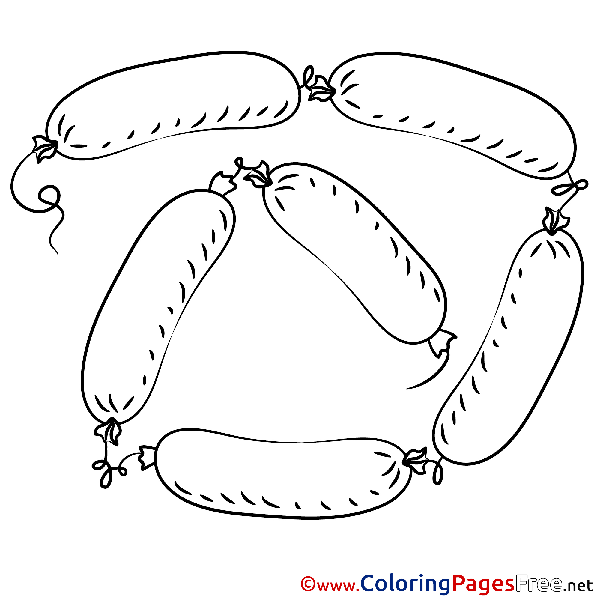 Sausages printable Coloring Pages for free