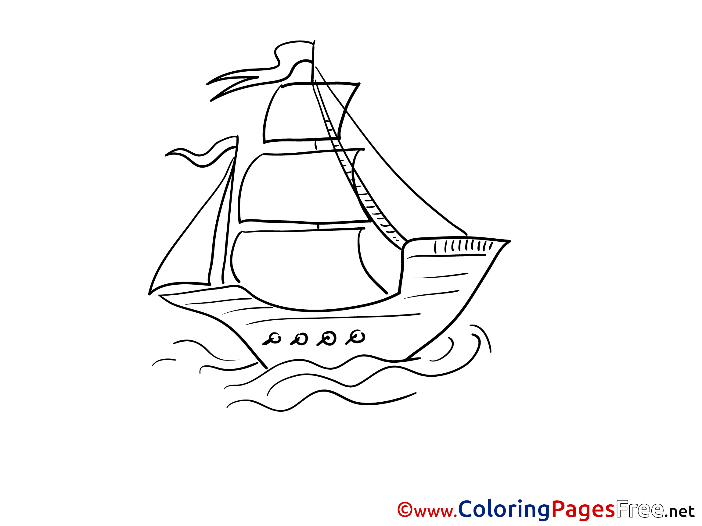 caravel kids download ship coloring pages