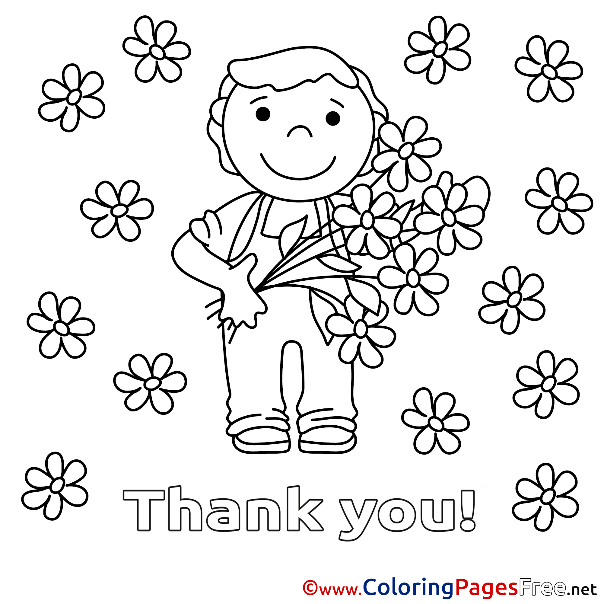 Coloring Pages That Say Thank You Coloring Pages