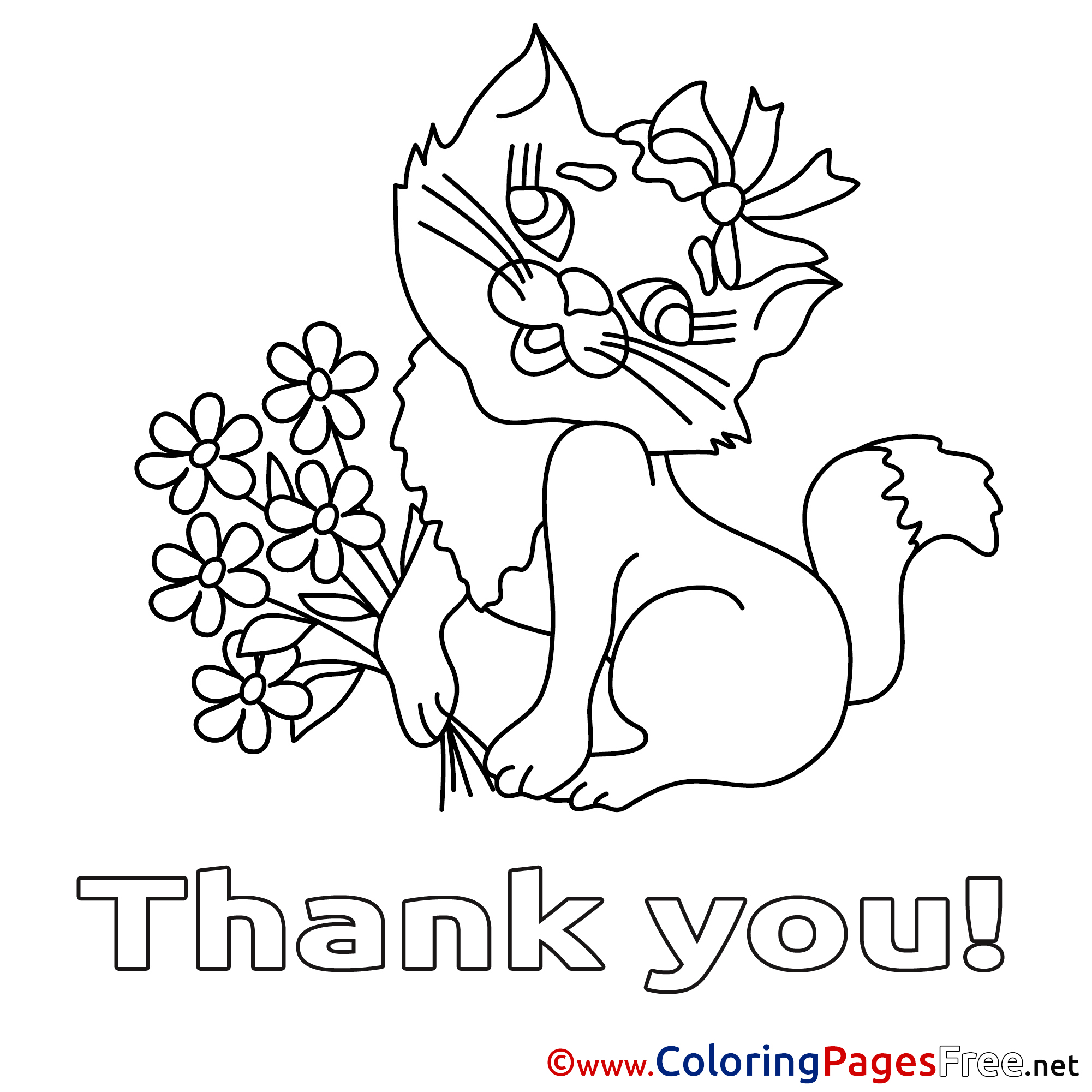 Please And Thank You Coloring Sheet Coloring Pages