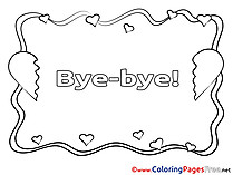 Goodbye I Miss You Coloring Pages Sketch Coloring Page