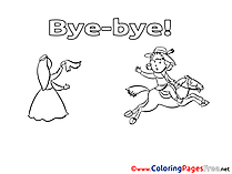 Good bye coloring cards