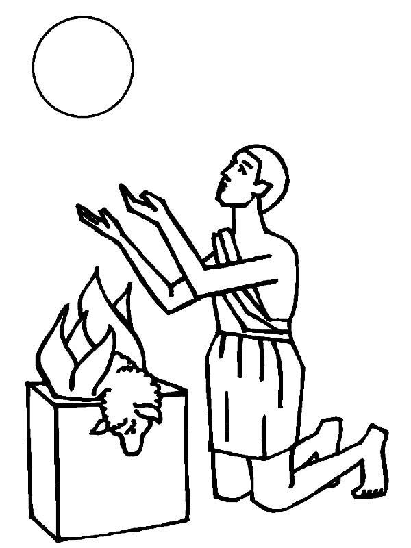 Abel Burn His Sheep For Sacrifice In Abel And Cain