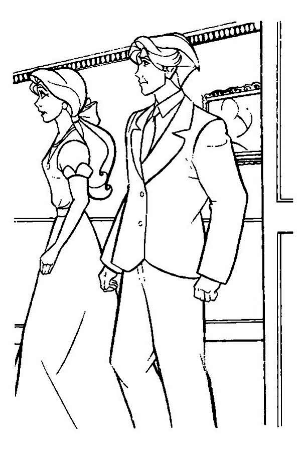 Anastasia Is Angry To Dmitri Coloring Page : Coloring Sky