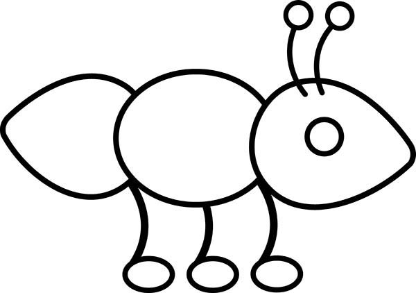 Cute Ant Bring Hot Dog For His Colony Coloring Page