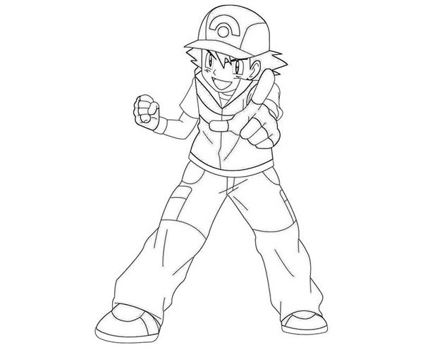 Ash Ketchum Dont Even Try Me On Pokemon Coloring Page
