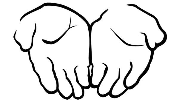 asking hand coloring page  coloring sky