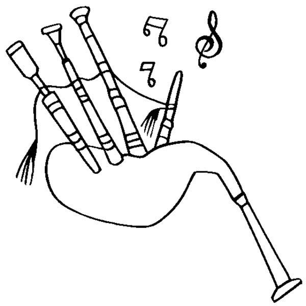 Bagpipes Instrument Coloring Page : Coloring Sky