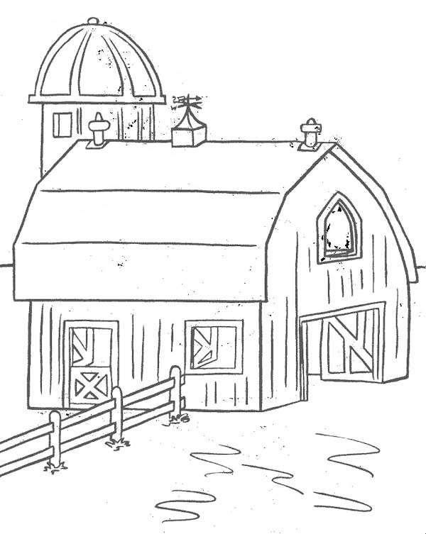 Barn For Keeping Farm Products Coloring Page : Coloring Sky