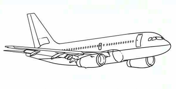 Boeing 787 Heading to Next Airport Coloring Page