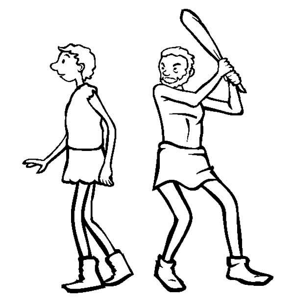 Cain Abel Coloring Pages Dead Coloring Pages