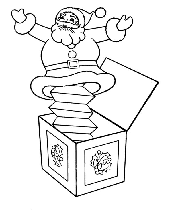 Christmas Jack In The Box Coloring Page : Coloring Sky
