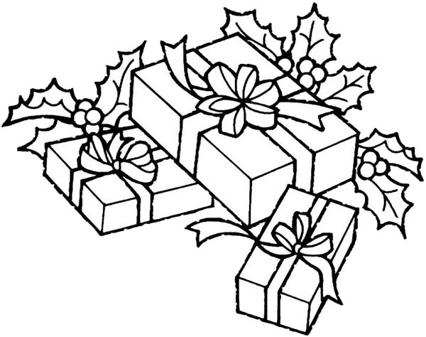Christmas Theme Gifts Coloring Page : Coloring Sky