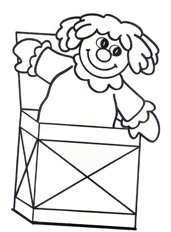 Cute Doll Jack In The Box Coloring Page : Coloring Sky