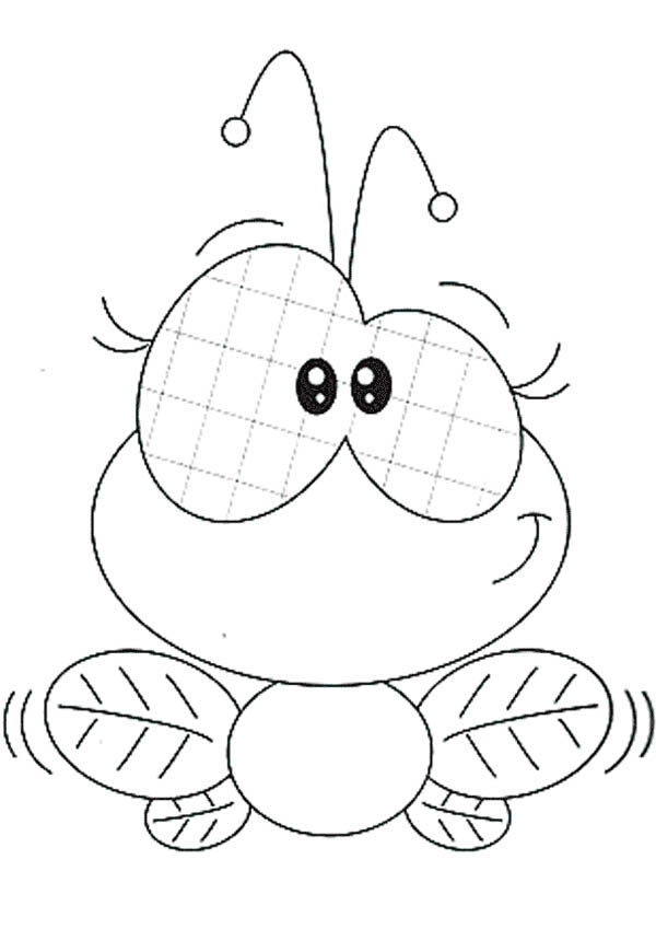 Cute Female Fly Coloring Page : Coloring Sky
