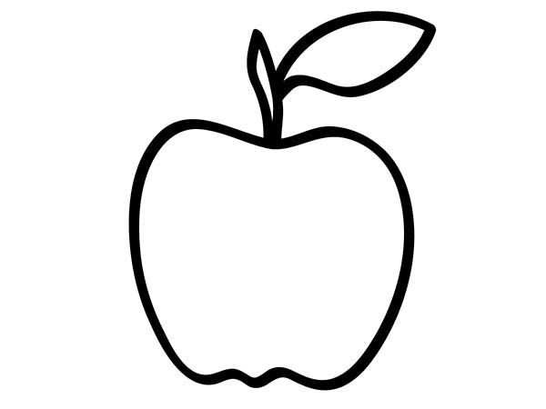 Delicious Apple Coloring Page : Coloring Sky