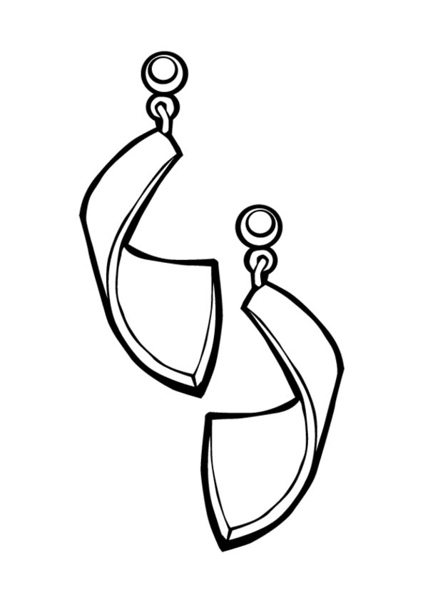 Earrings Jewelry For Girl Coloring Page : Coloring Sky