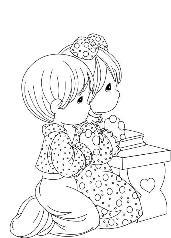 Everyday Lords Prayer For Help Coloring Page : Coloring Sky