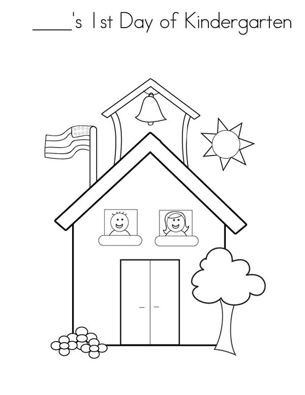 Experience First Day Of Kindergarten Coloring Page