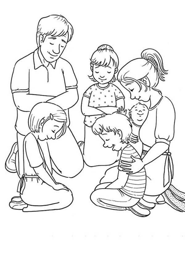 Family Value Lords Prayer Coloring Page : Coloring Sky