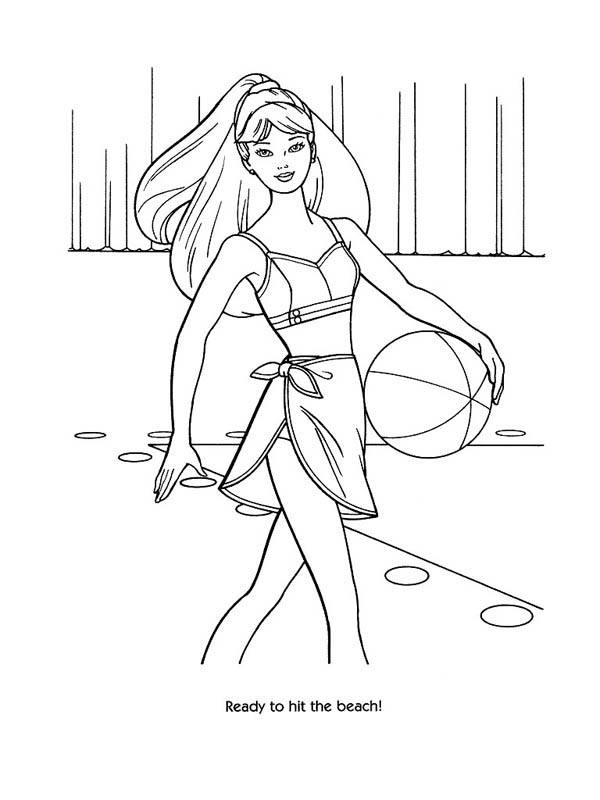 Fashion Model Coloring Page : Coloring Sky
