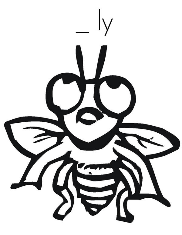 Fill In The Blank Fly Coloring Page : Coloring Sky
