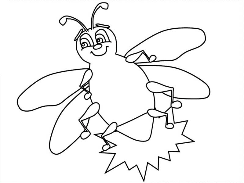 Fire Fly Bright Light Coloring Page : Coloring Sky