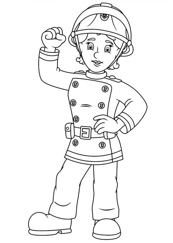 Fireman Sam Friend Penny Morris Coloring Page : Coloring Sky