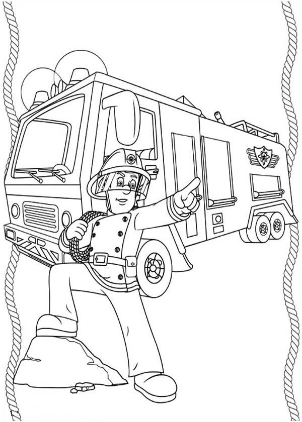Fireman Sam Take Command On Extinguishing The Fire