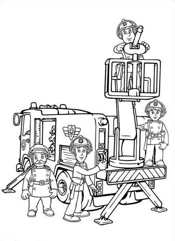 Fireman Sam and All Fontypandys Officer at Fire Fighting