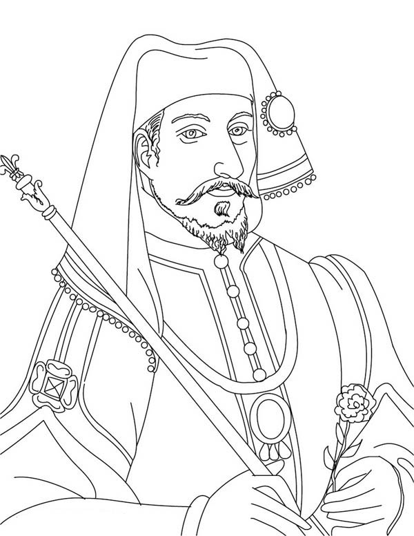 French King Henry IV Coloring Page : Coloring Sky