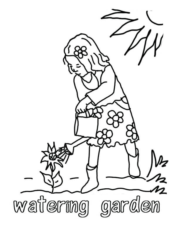 Free coloring pages of growing plants