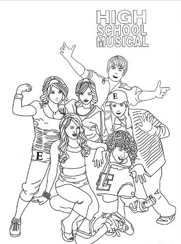 High School Musical Poster Coloring Page : Coloring Sky