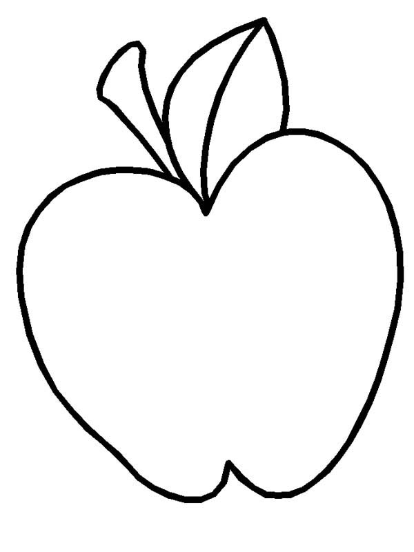How To Draw Apple Coloring Page : Coloring Sky