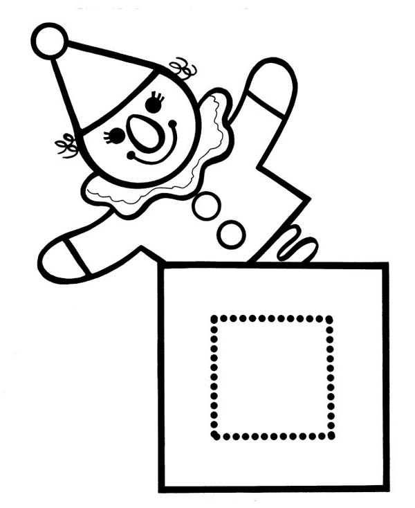 How To Make Jack In The Box Coloring Page : Coloring Sky