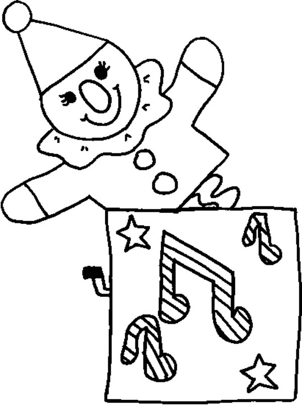 Jack In The Box Music Coloring Page : Coloring Sky
