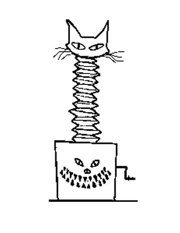 Jack In The Box Scary Cat Coloring Page : Coloring Sky