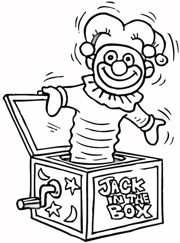 Jack In The Box Shaking Coloring Page : Coloring Sky