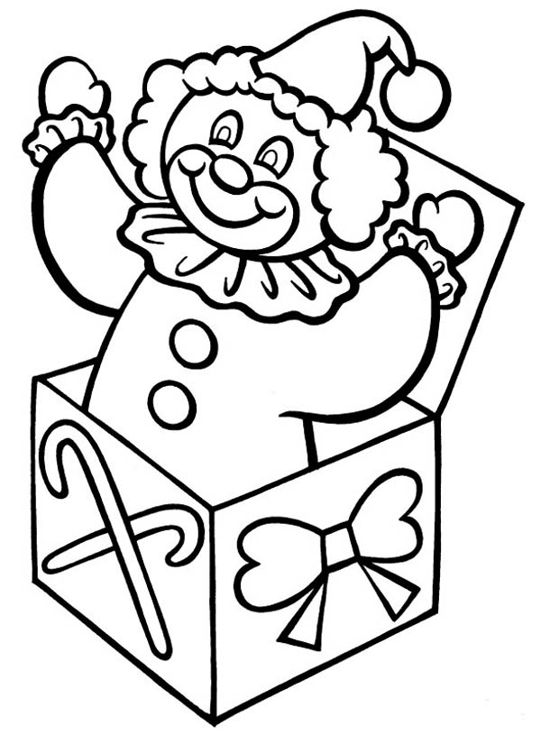 Jack In The Box And Walking Stick Coloring Page : Coloring Sky