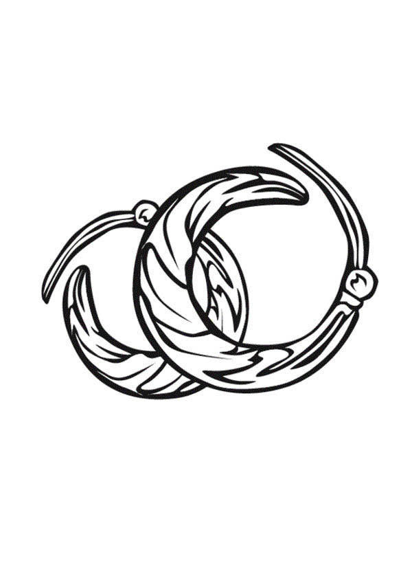 Jewelry Earrings Coloring Page: Jewelry Earrings Coloring
